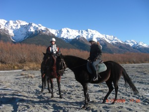 Riding horses in Queenstown, New Zealand  2009!