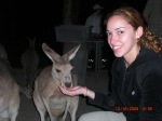 My wife feeding wild kangaroos in Cairns, Australia 2009!