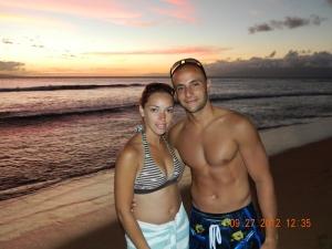 Hawaii beautiful sunset in Kaanapali beach, Hawaii