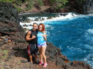 getting closer to the red sand beach!