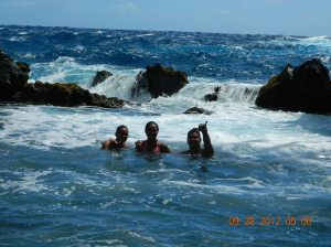 Deep inside this beautiful red sand Beach! lol