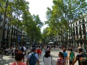Las Ramblas, Barcelona.