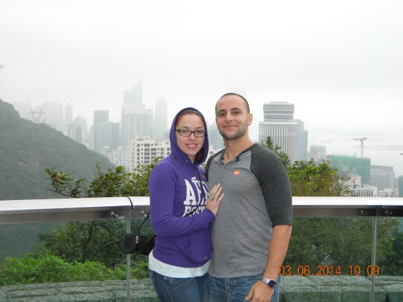 This picture was taken at Victoria peak but once again the bad weather ruined the amazing views...