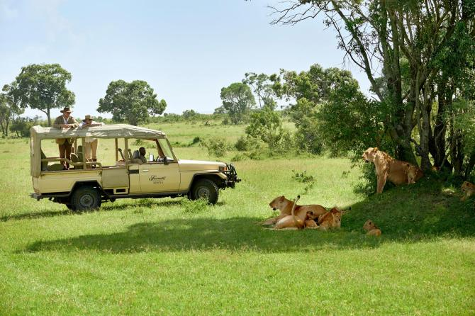 These are some pictures of the safari jeeps that we'll using with the Fairmont Safari club.