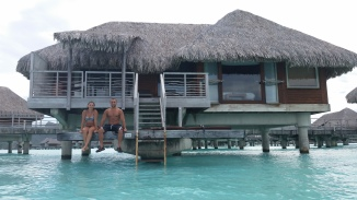 Our over-water bungalow at the Intercontinental and Thalasso resort in Bora Bora.