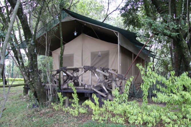 This will be our room/ tent in Africa.