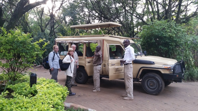 Getting ready to go on a game drive. This is the jeep we were in the whole time we were here.