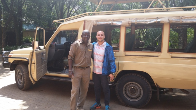 About to go on a game drive with Henry.