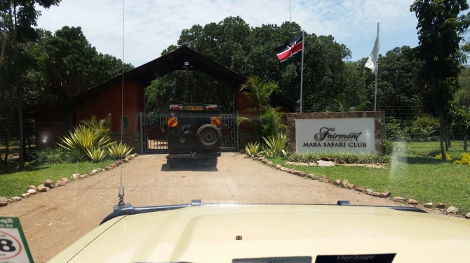 The entrance of our wonderful hotel the Fairmont Mara Safari Club.