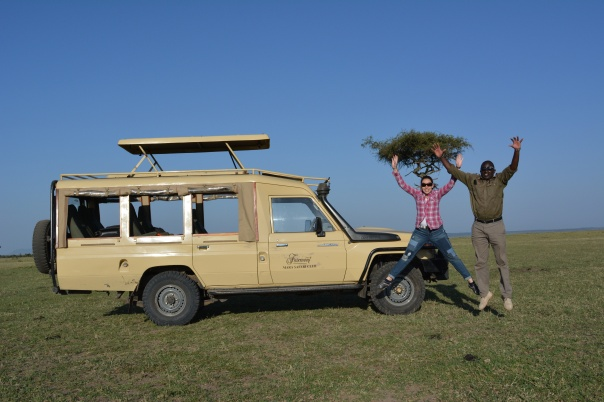 In the middle of the Mara with our favorite tour-guide, Henry :)